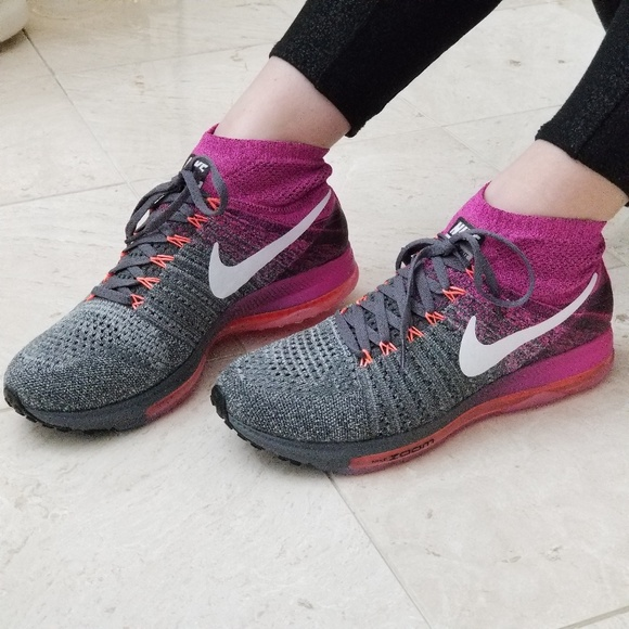 72d9b76df6706 Nike Zoom All Out Flyknit Women s Running Shoes. M 5adc02beb7f72b6c5ef38561